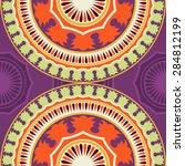 seamless pattern ethnic style.... | Shutterstock .eps vector #284812199
