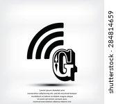 letter g  icon  | Shutterstock .eps vector #284814659