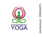 logo yoga   Shutterstock .eps vector #284816474