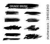 vector set of grunge brush... | Shutterstock .eps vector #284818343
