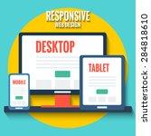responsive web design concept ...