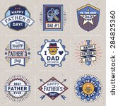 happy father s day color... | Shutterstock .eps vector #284825360