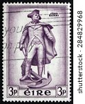 Small photo of IRELAND - CIRCA 1954: a stamp printed in the Ireland shows Statue of John Barry, an Officer in the Continental Navy during the American Revolutionary War, Wexford, Ireland, circa 1954