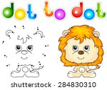 Funny And Cute Lion. Vector...
