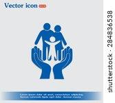 family life insurance sign icon.... | Shutterstock .eps vector #284836538