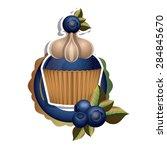 blueberry design over white...   Shutterstock .eps vector #284845670