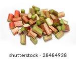 Rhubarb  isolated on a white studio background. - stock photo