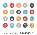 web   mobile icons   1   ... | Shutterstock .eps vector #284850116