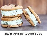 chocolate chip mint ice cream... | Shutterstock . vector #284856338