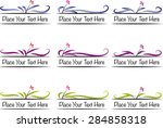 vector set  calligraphic design ... | Shutterstock .eps vector #284858318