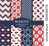 set of marine and nautical... | Shutterstock .eps vector #284858378