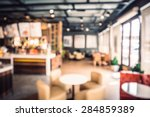 Stock photo abstract blur coffee shop background vintage filter effect 284859389