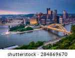 Evening View Of Pittsburgh Fro...