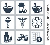 pharmacy  medicine vector icon... | Shutterstock .eps vector #284871896