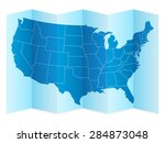 usa map on a white background.... | Shutterstock .eps vector #284873048
