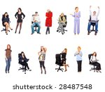 sitting and standing  | Shutterstock . vector #28487548