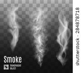 set of transparent smoke on... | Shutterstock .eps vector #284878718