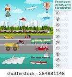 transport infographics elements.... | Shutterstock .eps vector #284881148
