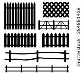vector set of rural black... | Shutterstock .eps vector #284881436