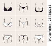 sexy bra and panties  icons and ... | Shutterstock .eps vector #284882168
