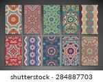 cards. vintage decorative... | Shutterstock .eps vector #284887703