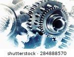 cogwheels and gears  titanium... | Shutterstock . vector #284888570