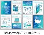 big set of infographics... | Shutterstock .eps vector #284888918