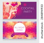 template for ladies night party ... | Shutterstock .eps vector #284894933