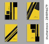 set covers for magazine of... | Shutterstock .eps vector #284896679
