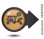 winter sale circular icon on... | Shutterstock . vector #284899520