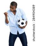 Celebrating Soccer Fan With...