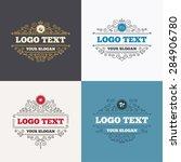 flourishes calligraphic emblems.... | Shutterstock .eps vector #284906780