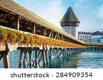 Cityscape Of Lucerne With...