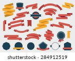 vector set of colorful empty... | Shutterstock .eps vector #284912519