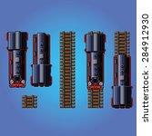 steam train locomotive pixel...   Shutterstock .eps vector #284912930