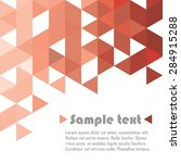 red triangle abstract vector... | Shutterstock .eps vector #284915288