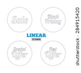 sale icons. best special offer... | Shutterstock .eps vector #284915420