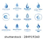 water logos  label  icons and... | Shutterstock .eps vector #284919260