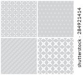 seamless pattern. collection of ... | Shutterstock .eps vector #284921414