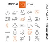 medical icons set | Shutterstock .eps vector #284922440