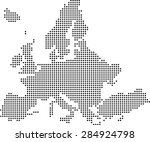 map of europe | Shutterstock .eps vector #284924798