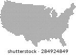 map of usa | Shutterstock .eps vector #284924849