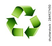 recycle infographics on a white ... | Shutterstock .eps vector #284927450