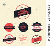 retro premium quality labels... | Shutterstock .eps vector #284927636