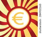 yellow icon with euro symbol ...