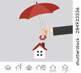 home insurance. info graphic.... | Shutterstock .eps vector #284933336