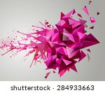 geometric pink abstract banner. ... | Shutterstock .eps vector #284933663