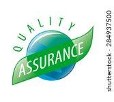 round vector logo quality... | Shutterstock .eps vector #284937500