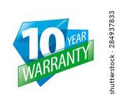 vector logo 10 years warranty | Shutterstock .eps vector #284937833