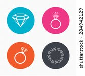 circle buttons. rings icons.... | Shutterstock .eps vector #284942129